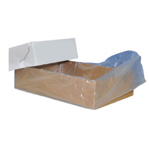 Carton Liners - HDPE Clear with Gusset - 635 + 380 x 635mm 18um Flat Packed-0