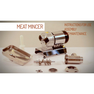 Tre Spade Meat Mincer Assembly and Instructions for use-0