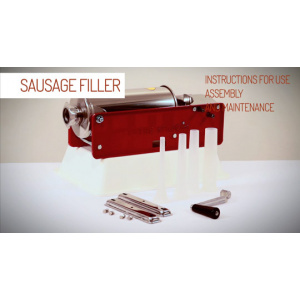 Tre Spade Sausage Filler - Instructions for Assembly and Use-0