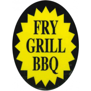 Meat Display Label - Fry Grill BBQ Roll of 300-0