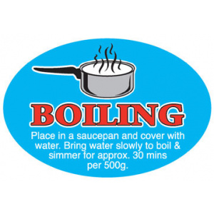 Meat Display Label - Boiling Roll of 500-0