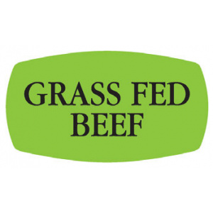 Meat Display Label - Grass Fed Beef Roll of 500-0